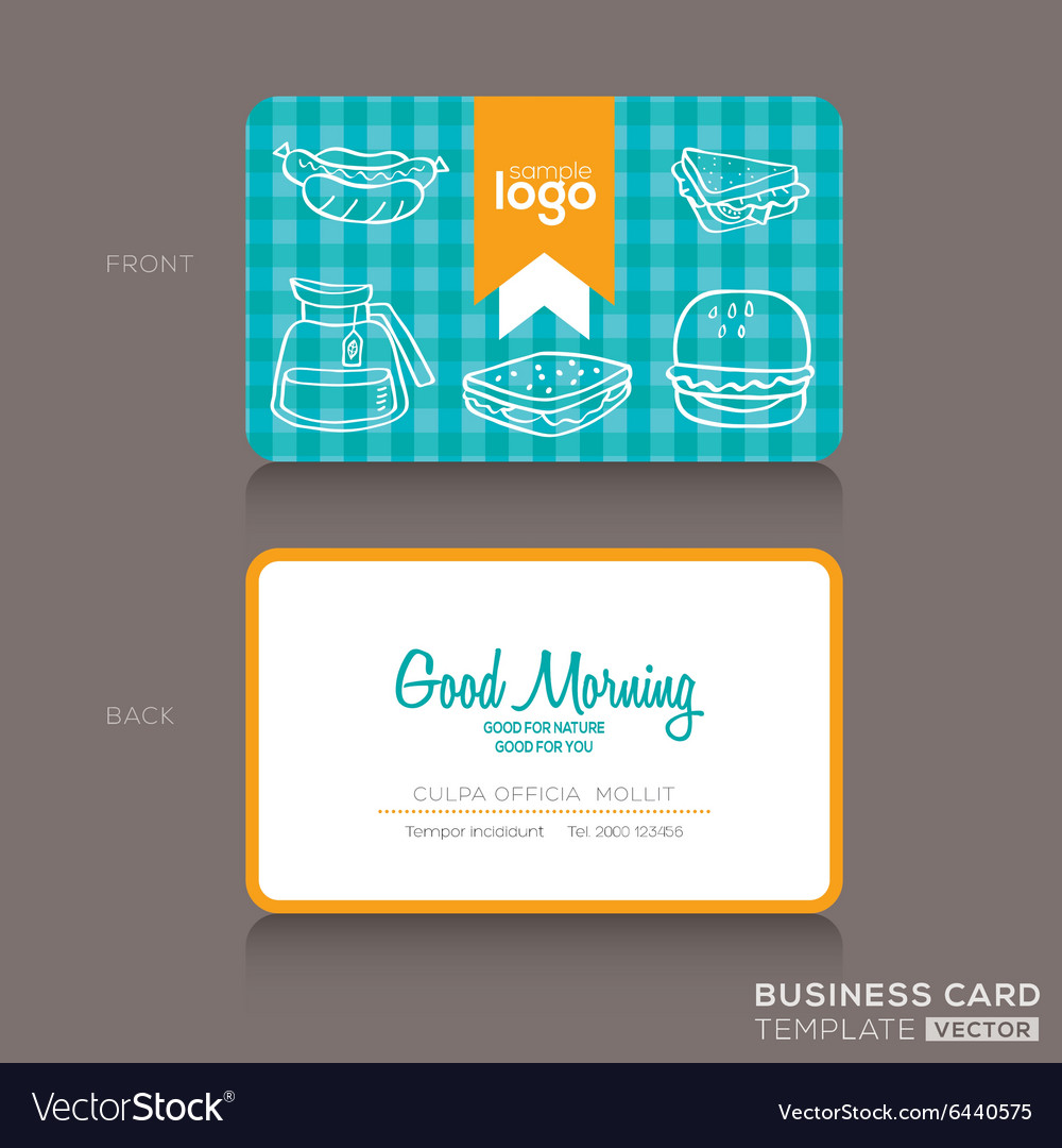 Bakery shop or cafe Business card