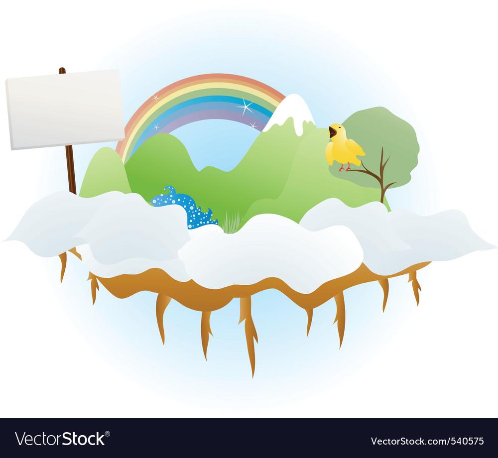 Cloud land vector image