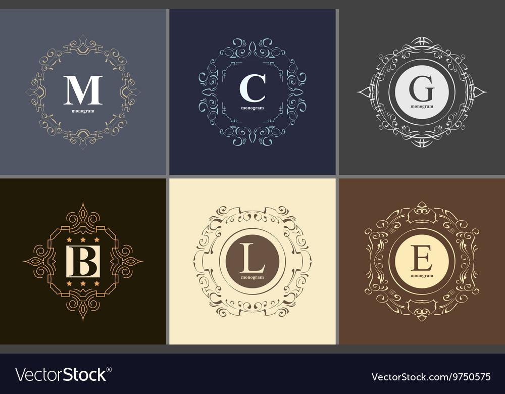 Elegant monogram design template
