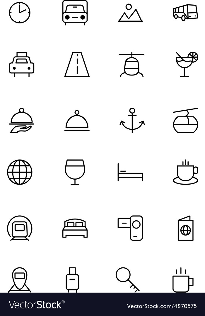 Travel Line Icons 2