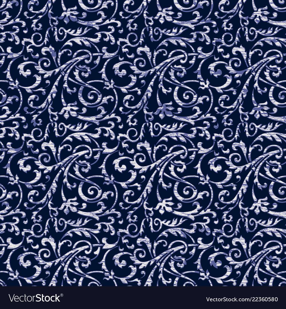 Arabesque damask abstract vintage wallpaper