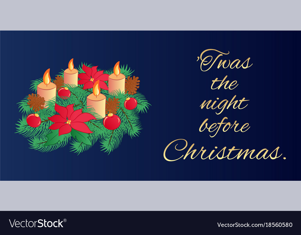 Christmas eve greeting card or horizontal banner