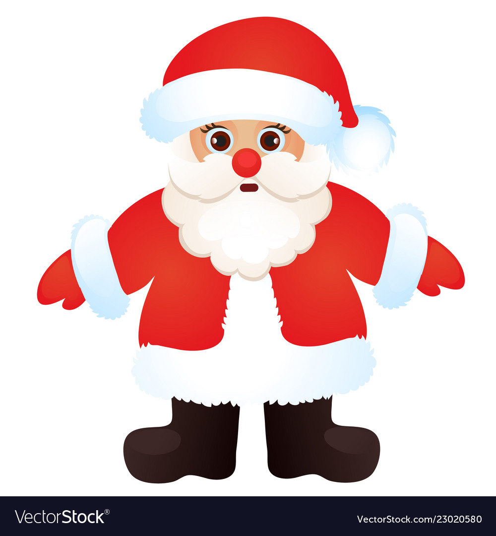 d51d0f4786bd1 Cute santa claus isolated on a white background Vector Image