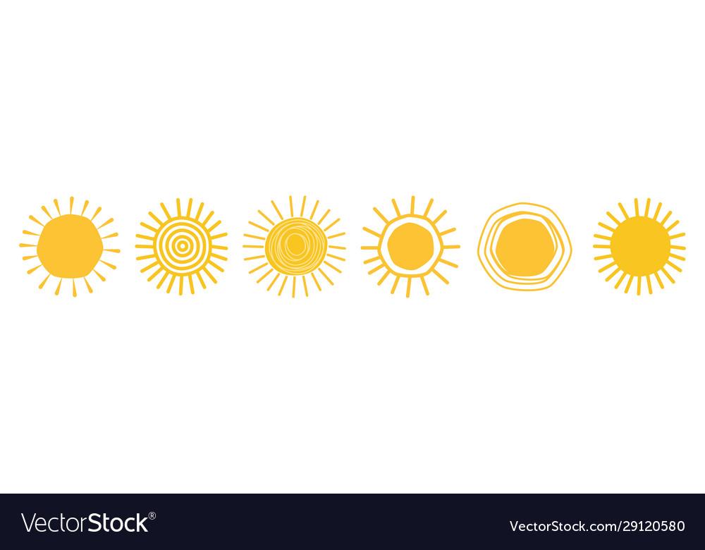 Doodle sun icons