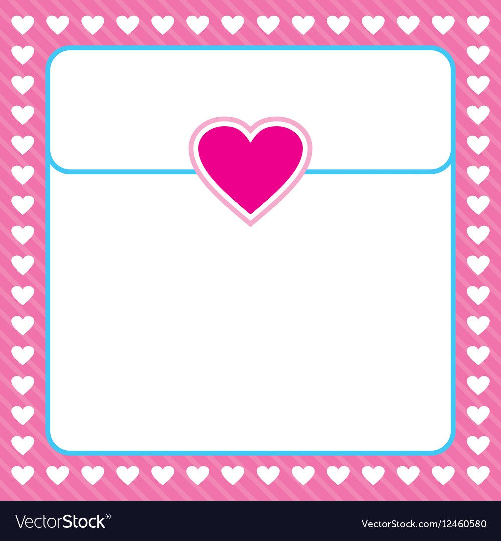 Frame shaped from white heart on pink background
