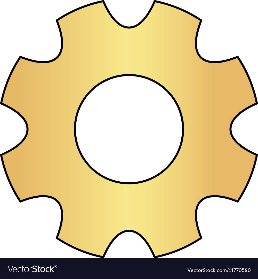 Gearwheel computer symbol