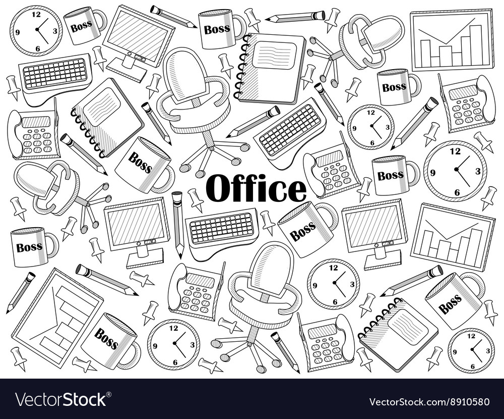 Office colorless set