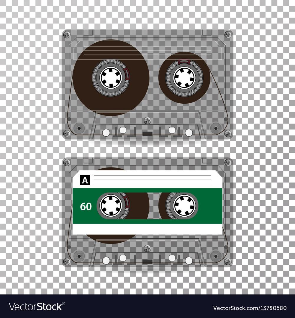 Retro audio cassette realistic