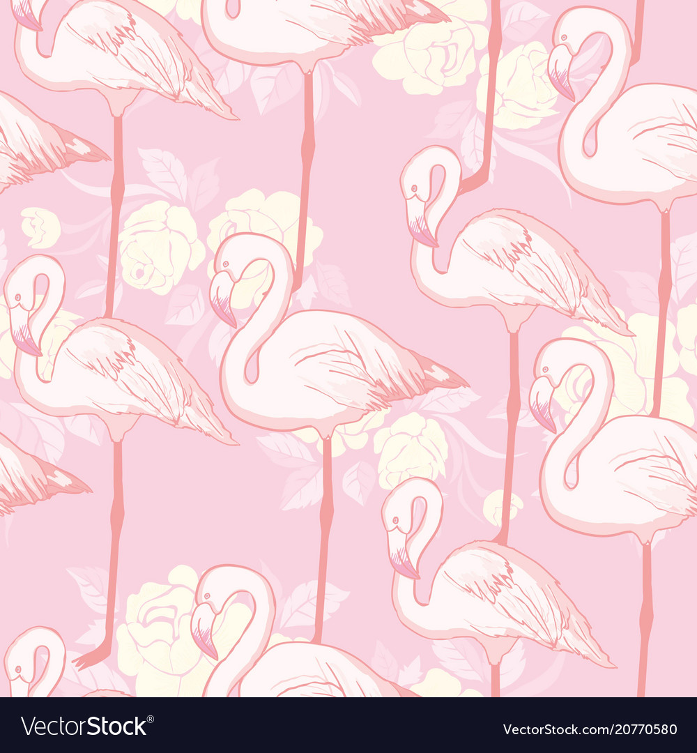 Seamless flamingo pattern