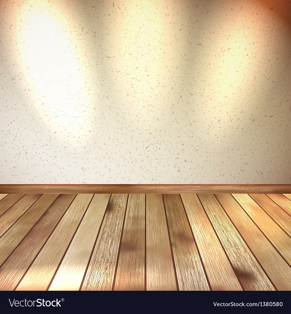 Vintage wooden room floor EPS 10 vector image