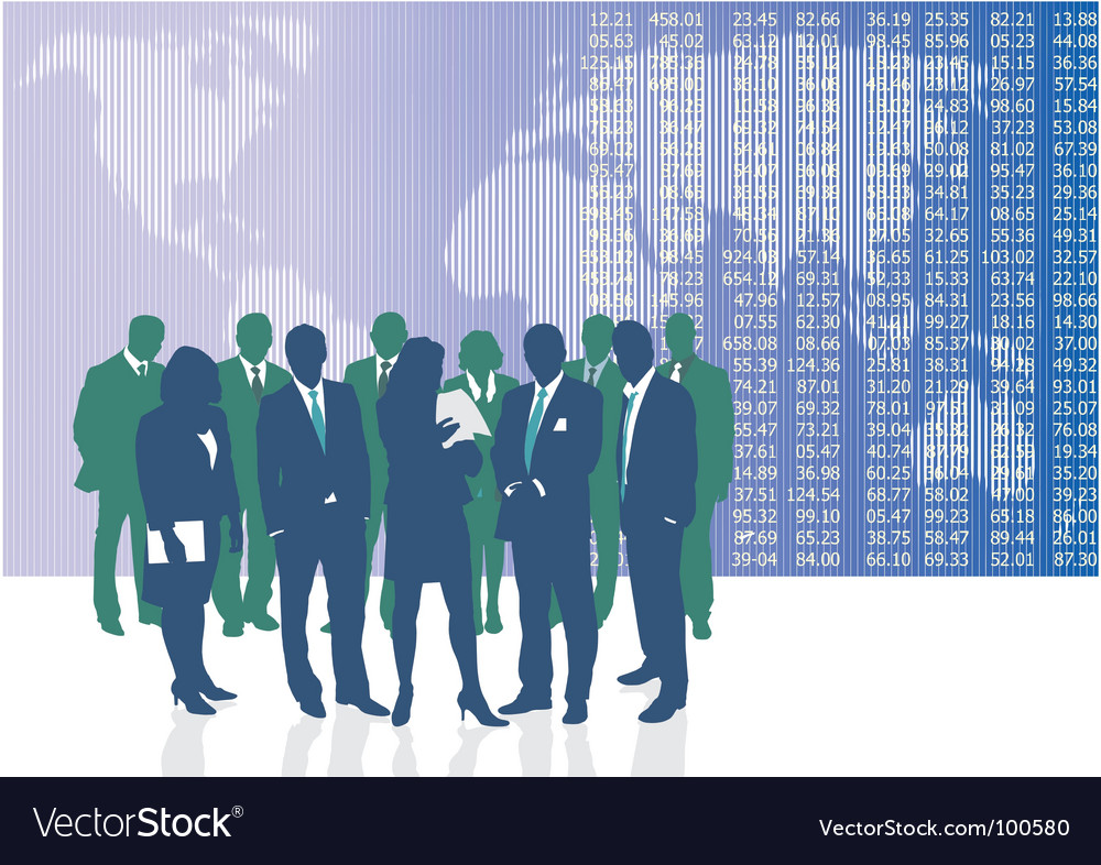 World business people