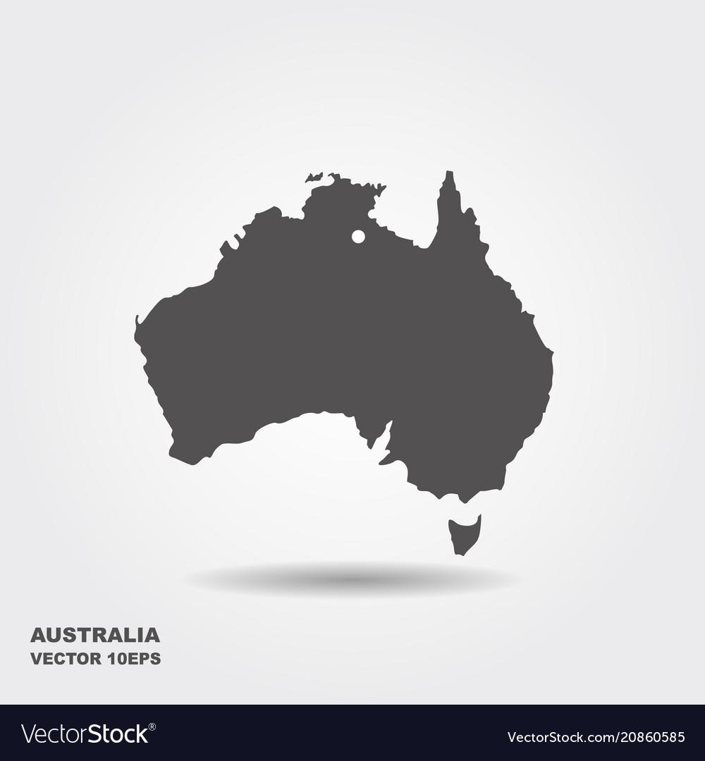 Australia Map Icon.Australia Map Icon Flat