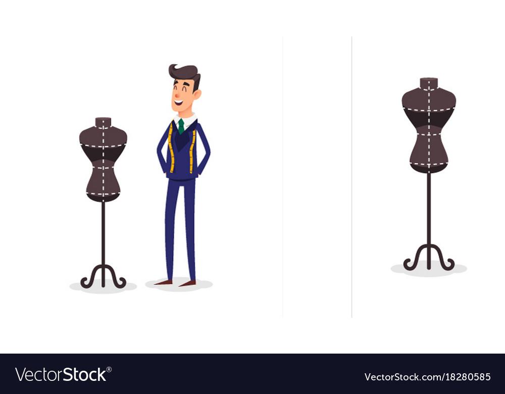 Businessman constructor or male cartoon
