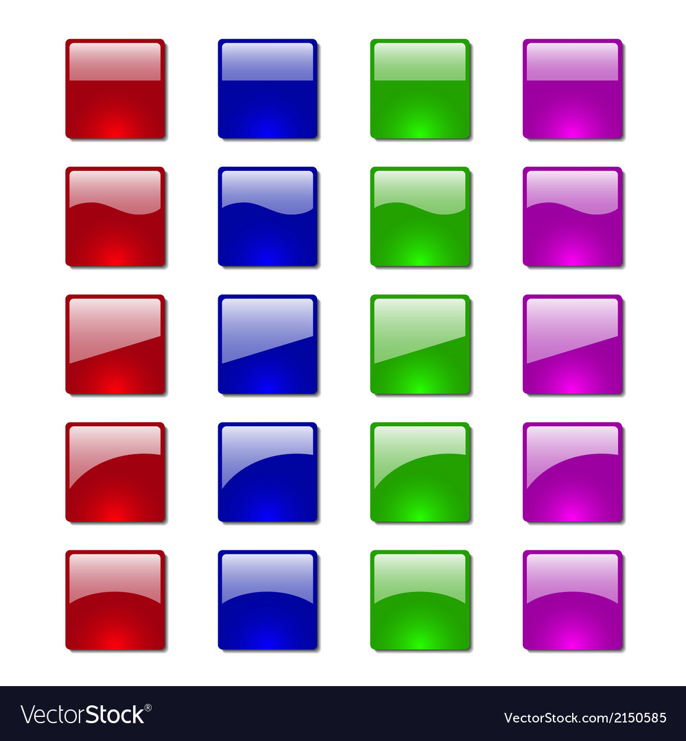Button glossy vector image