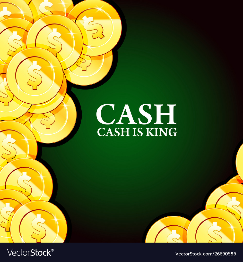 Money background with gold coins - casino cash