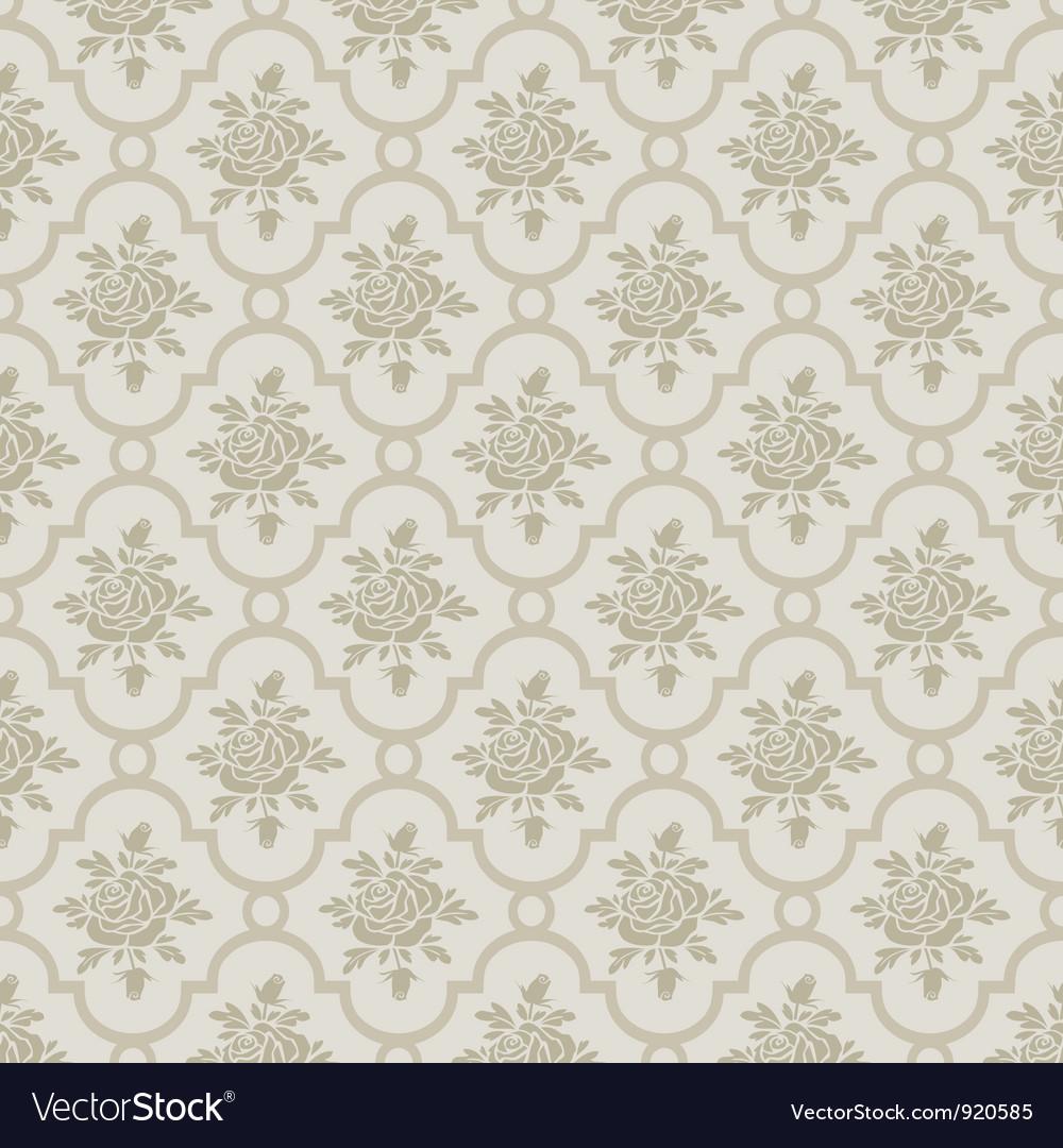 Pastel romantic roses seamless pattern vector image