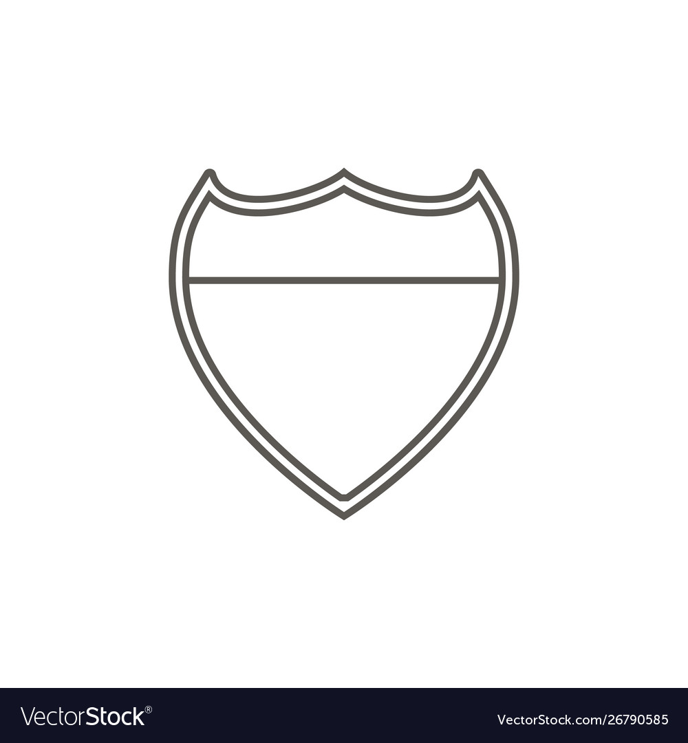 Police metal plate icon simple element from map