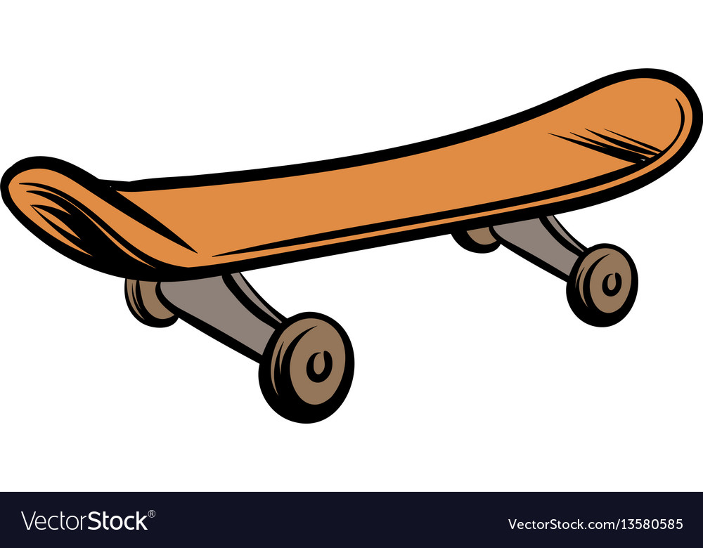 Skateboard icon cartoon vector image