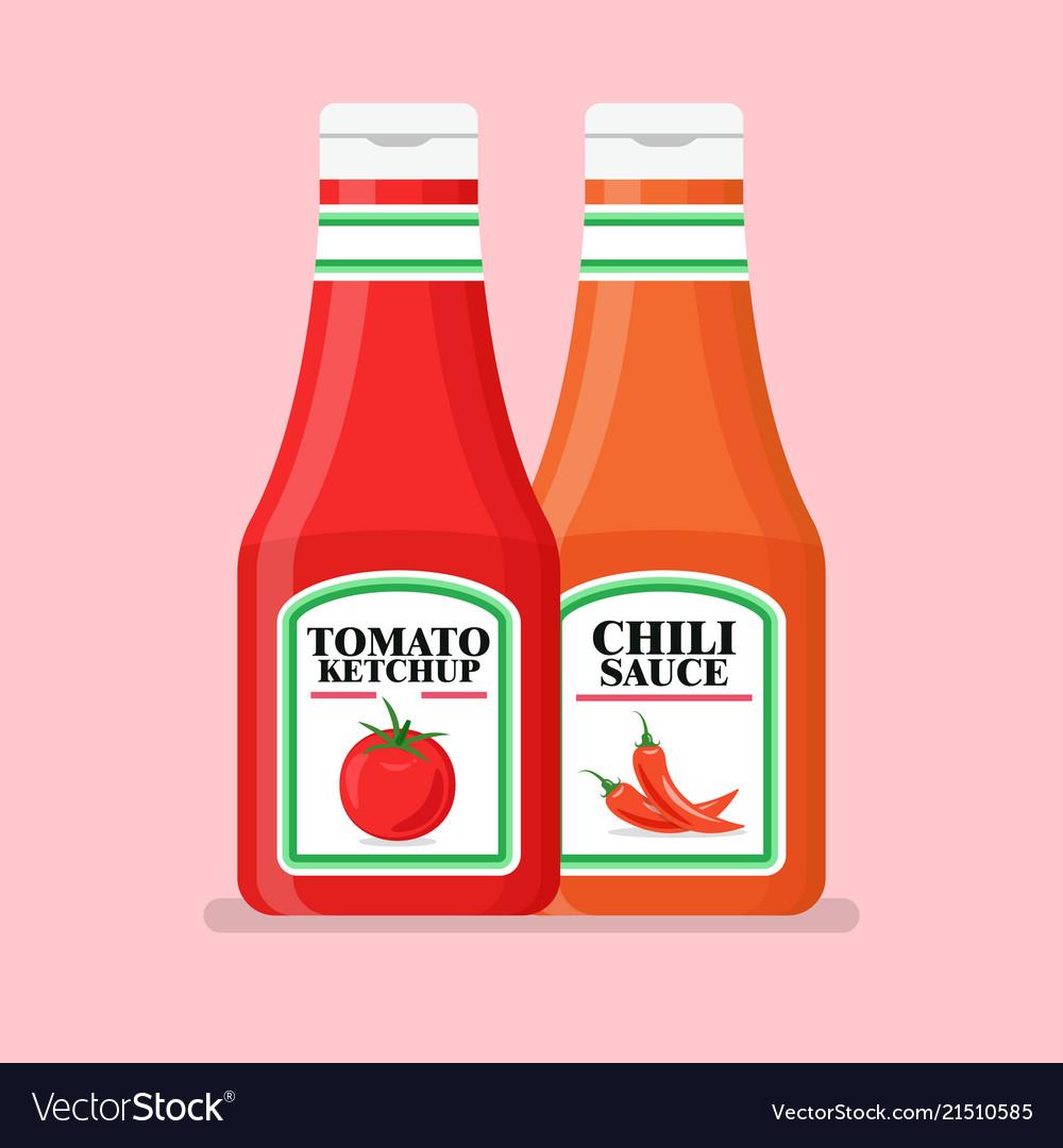 Картинки кетчупа для срисовки