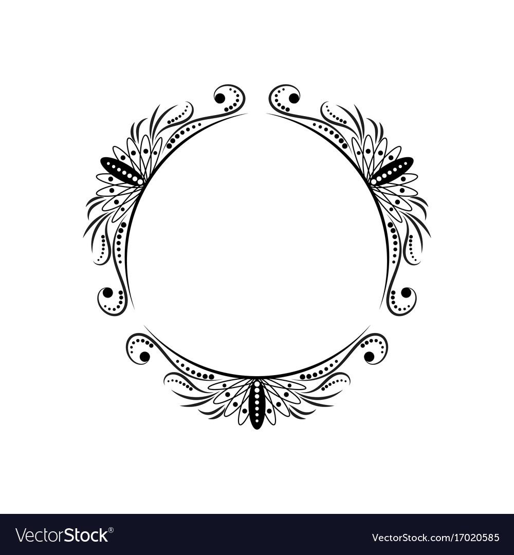 mirror frame outline. Classic Outline Mirror Frame O