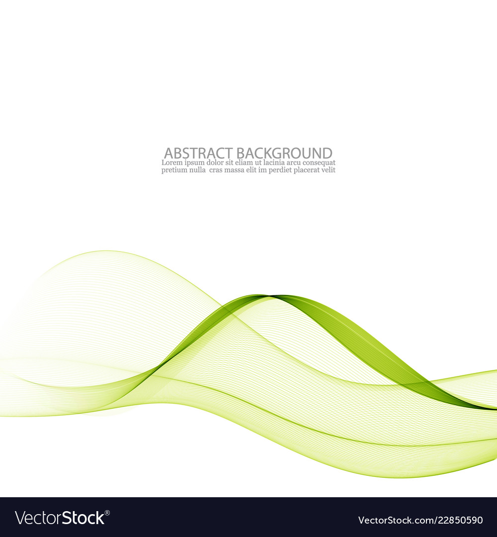 Abstract green wavy colorful background
