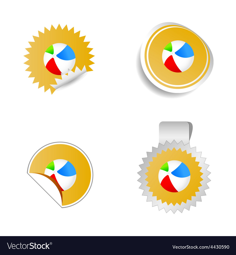 Beach ball color vector image