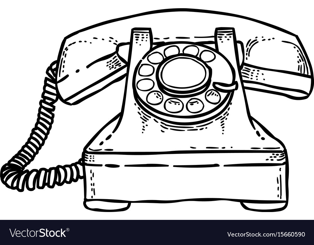 Cartoon image of phone icon telephone symbol