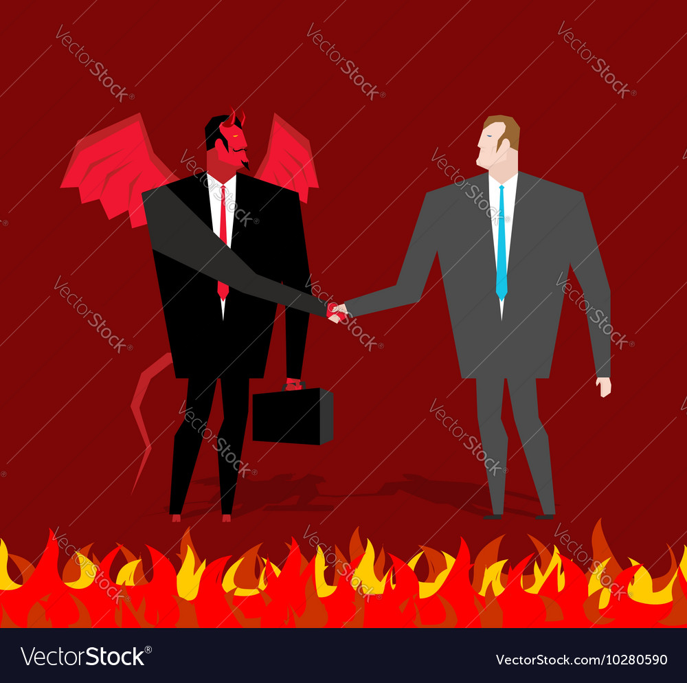 Deal with devil Businessman and make a deal demon