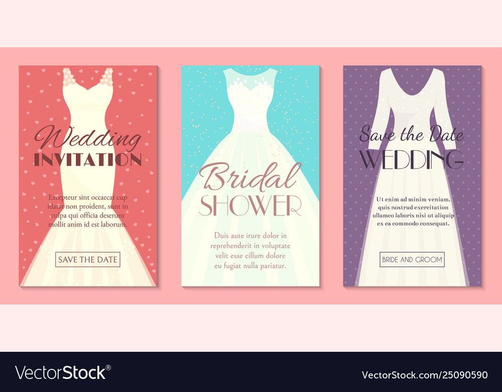 Different styles wedding dresses set banners