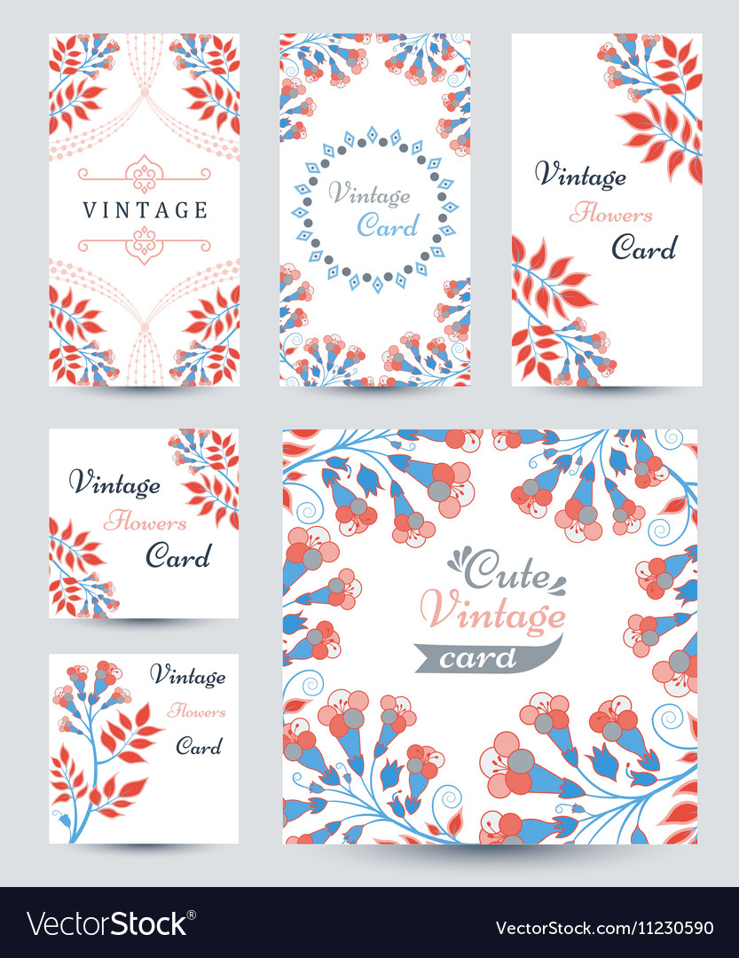 Elegant cards with decorative multi colored flower