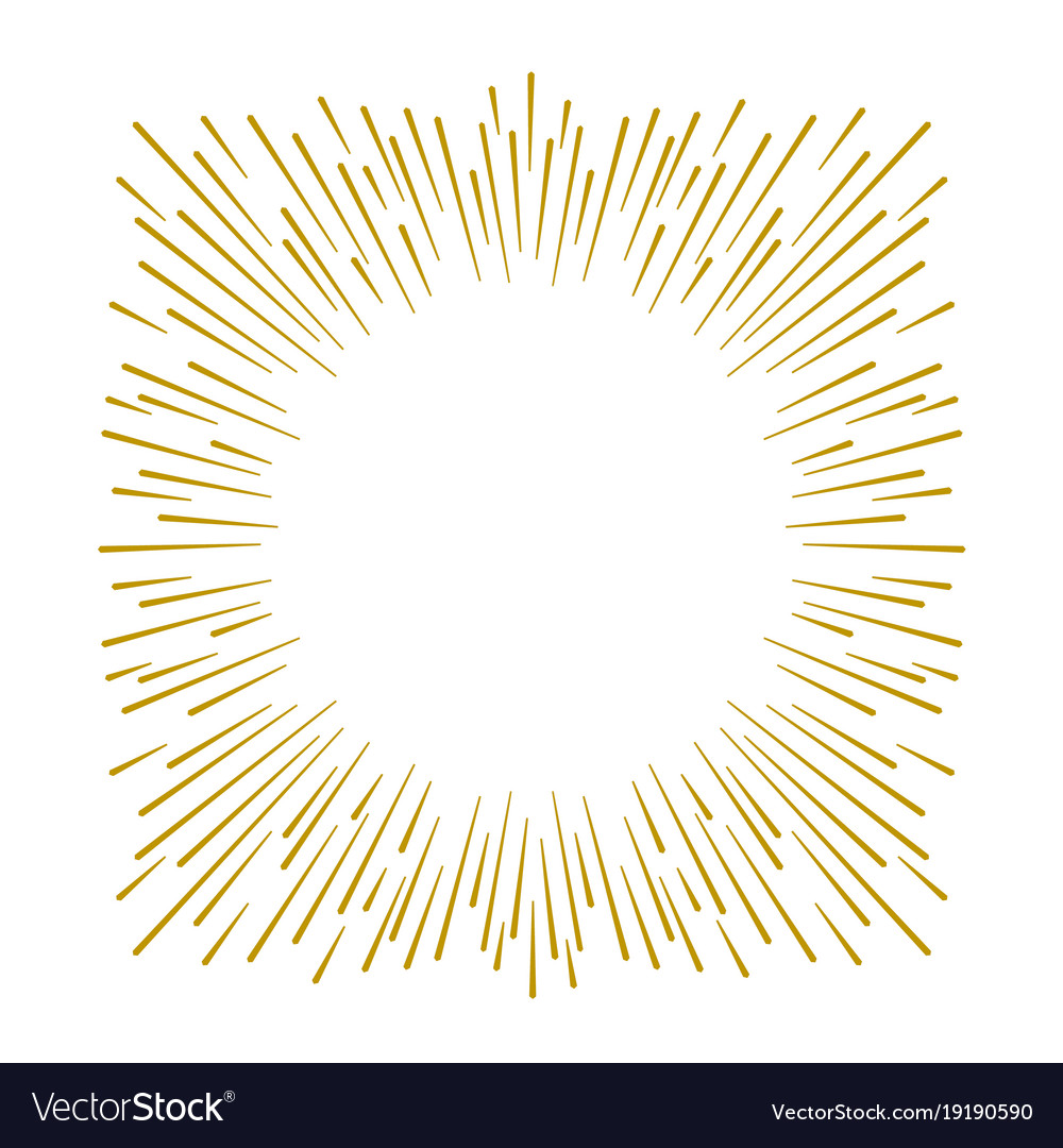 Gold firework design on white background