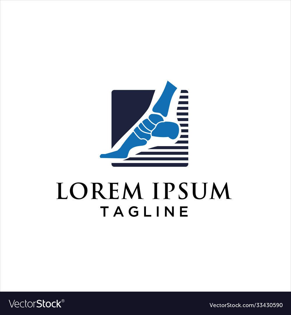 Logo template for podiatry with foot