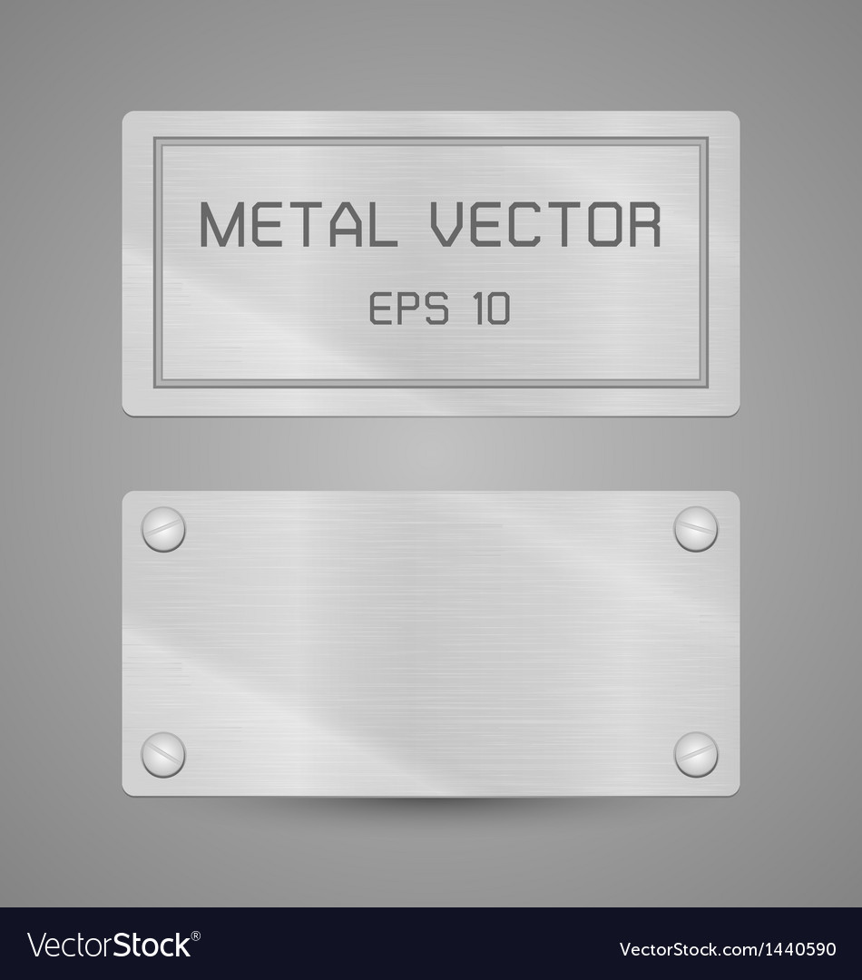 Metal texture label for background
