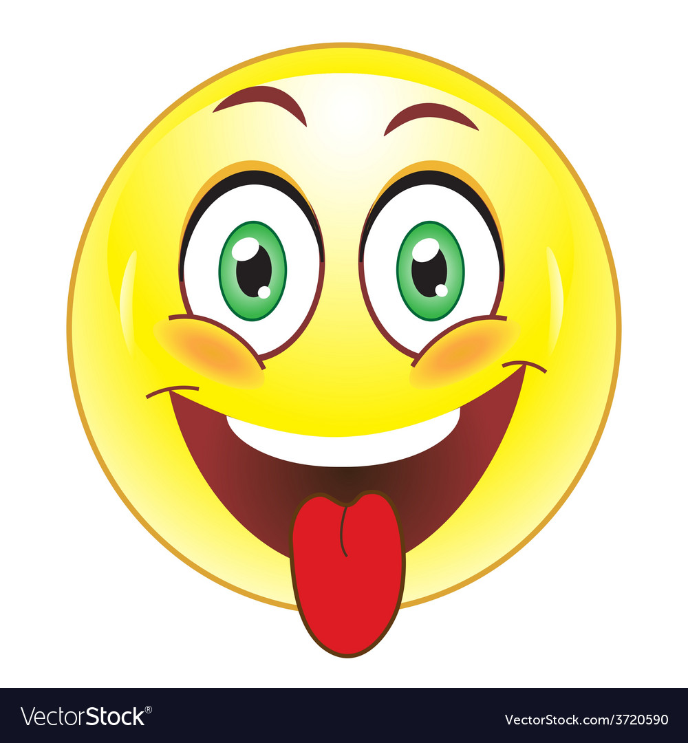 Smiley showing tongue vector image