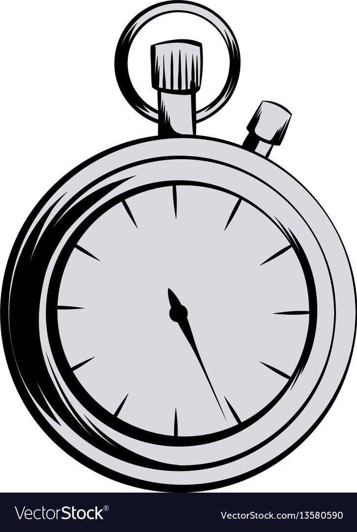 Stopwatch icon cartoon