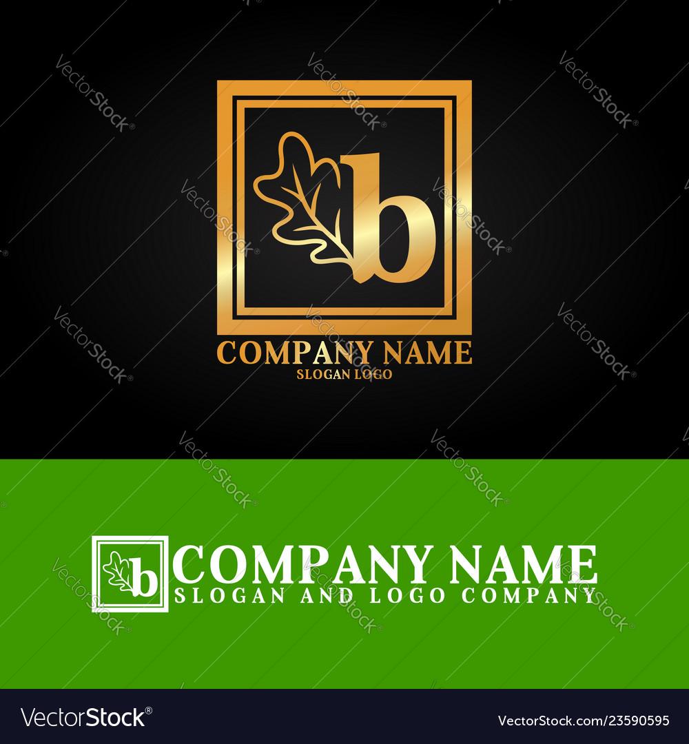 03 oak letter b