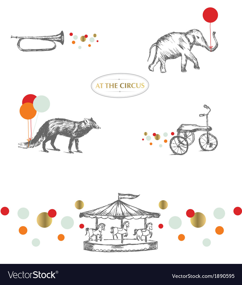 AT THE CIRCUS vector image
