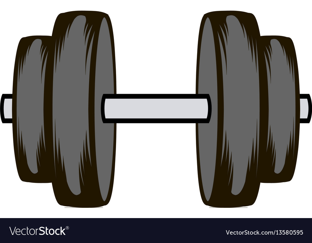 barbell icon cartoon royalty free vector image