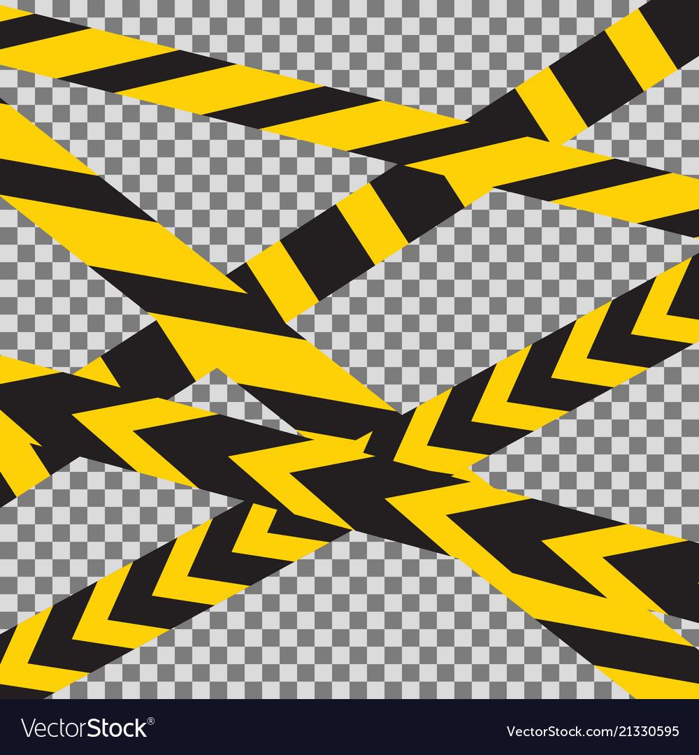 Caution crossed tapes border