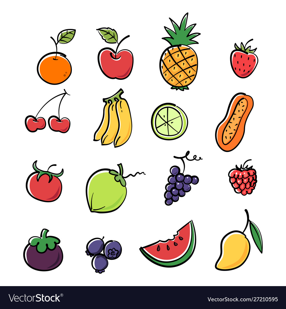 Colorful graphic fruit image