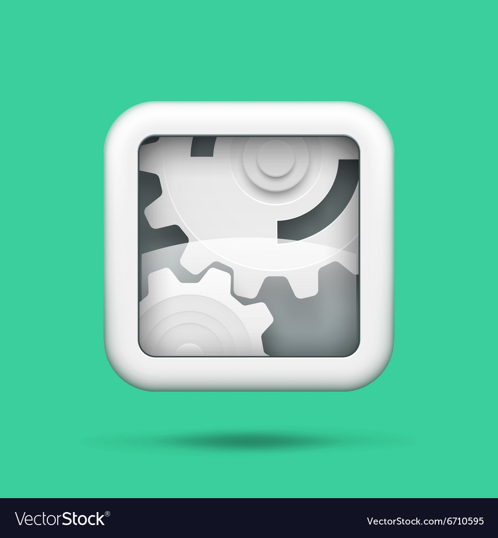 Gears tech icon vector image