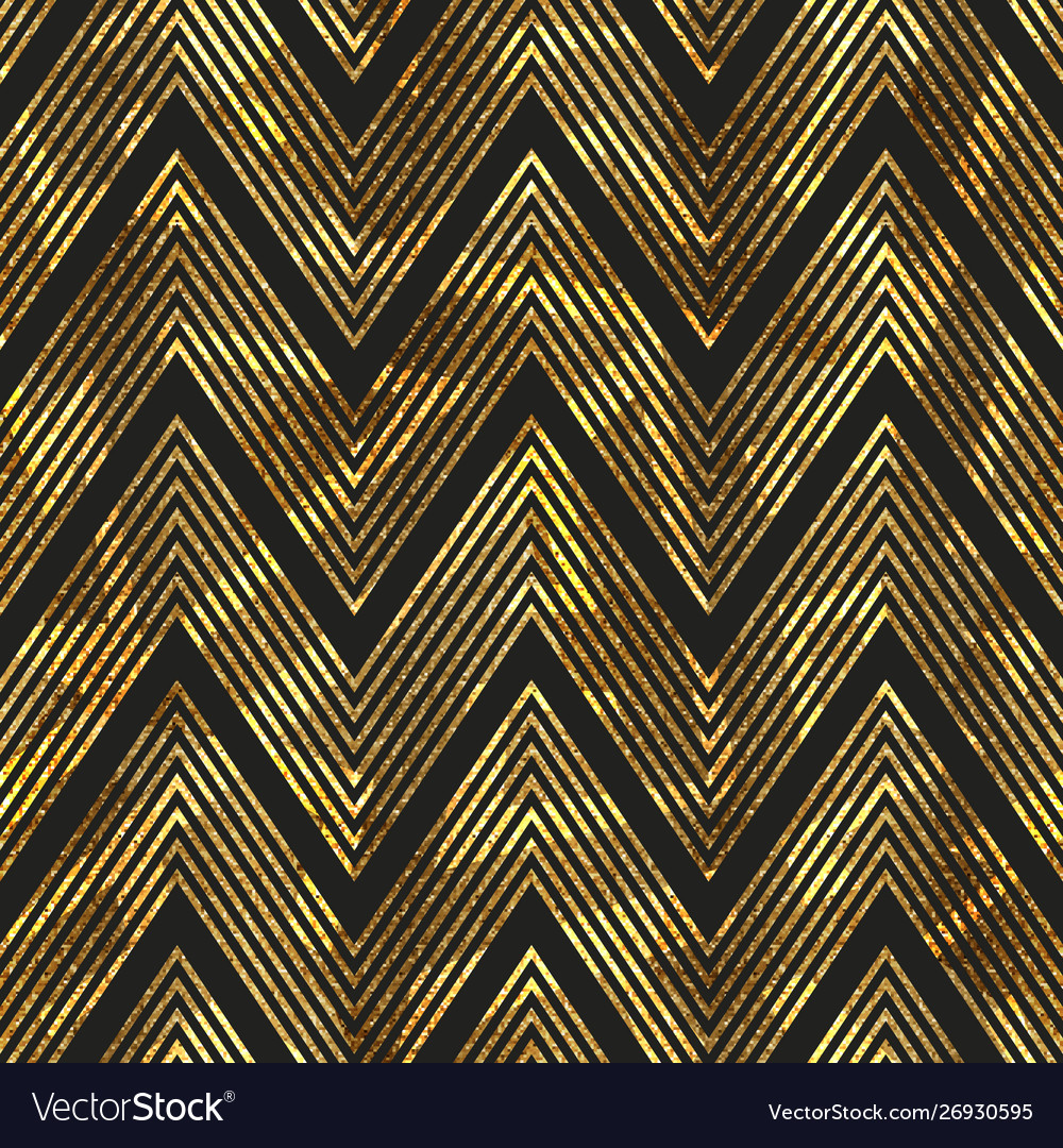 Gold zigzag stripes pattern