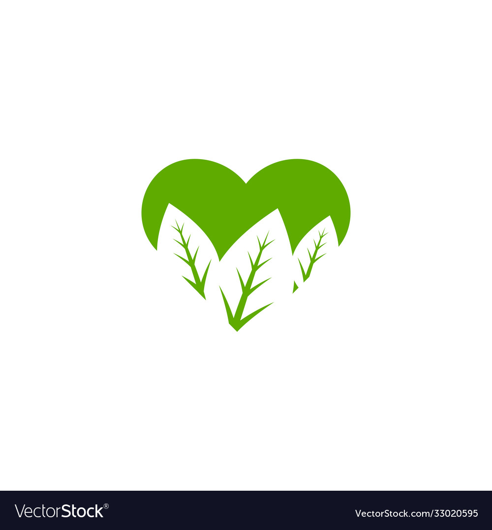 Leaf icon logo design template isolated