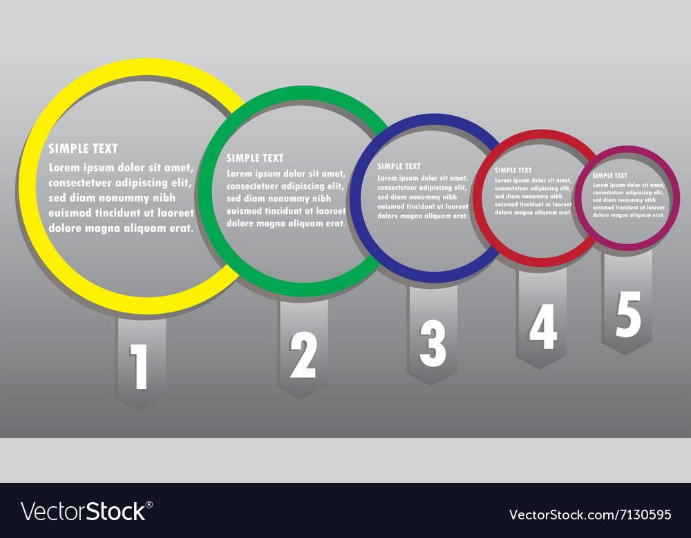 Modern business circle options banner