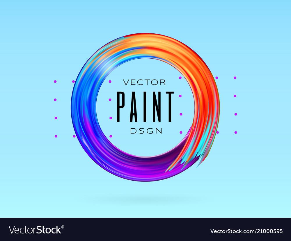 Modern colorful flow frame fluid acrylic