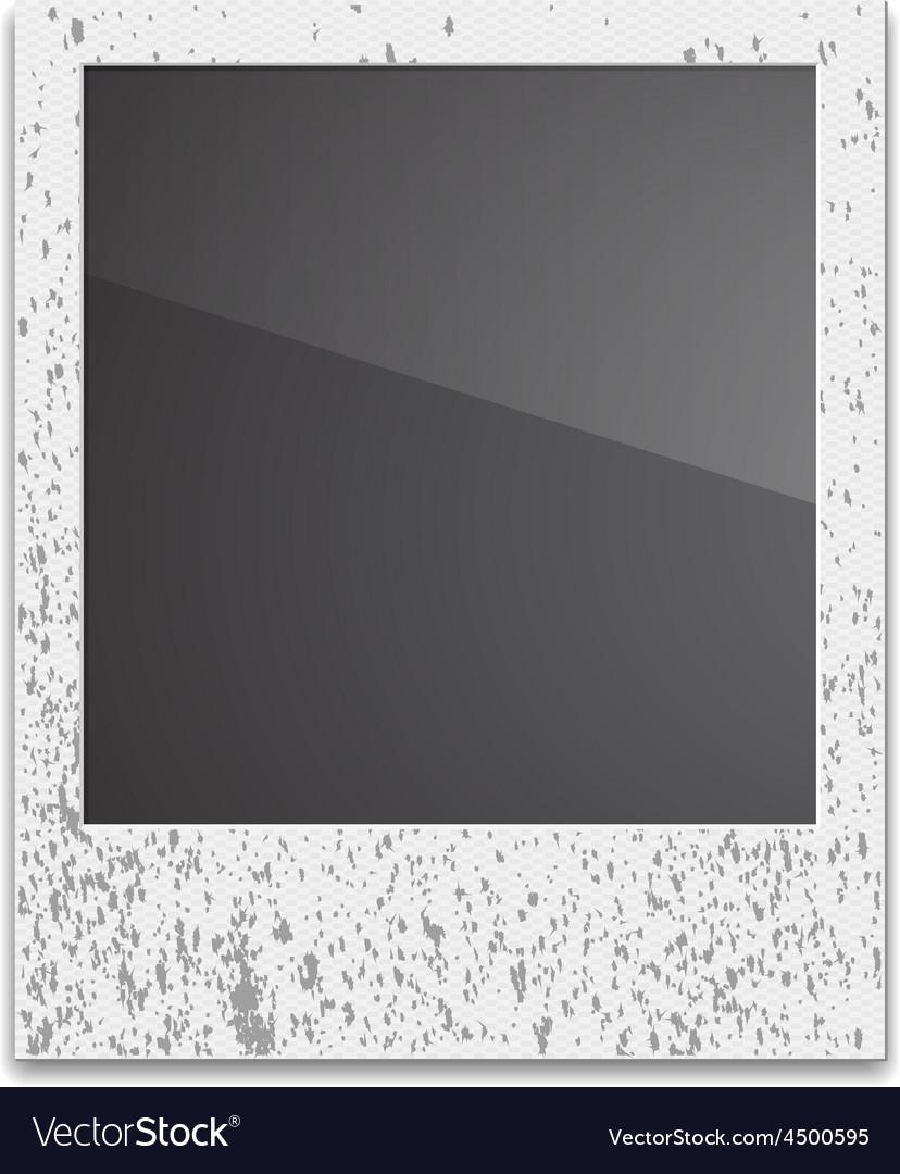 Retro Photo Frame Polaroid On White Background