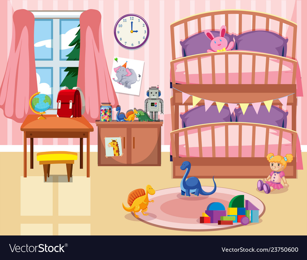 A Kid Bedroom Background