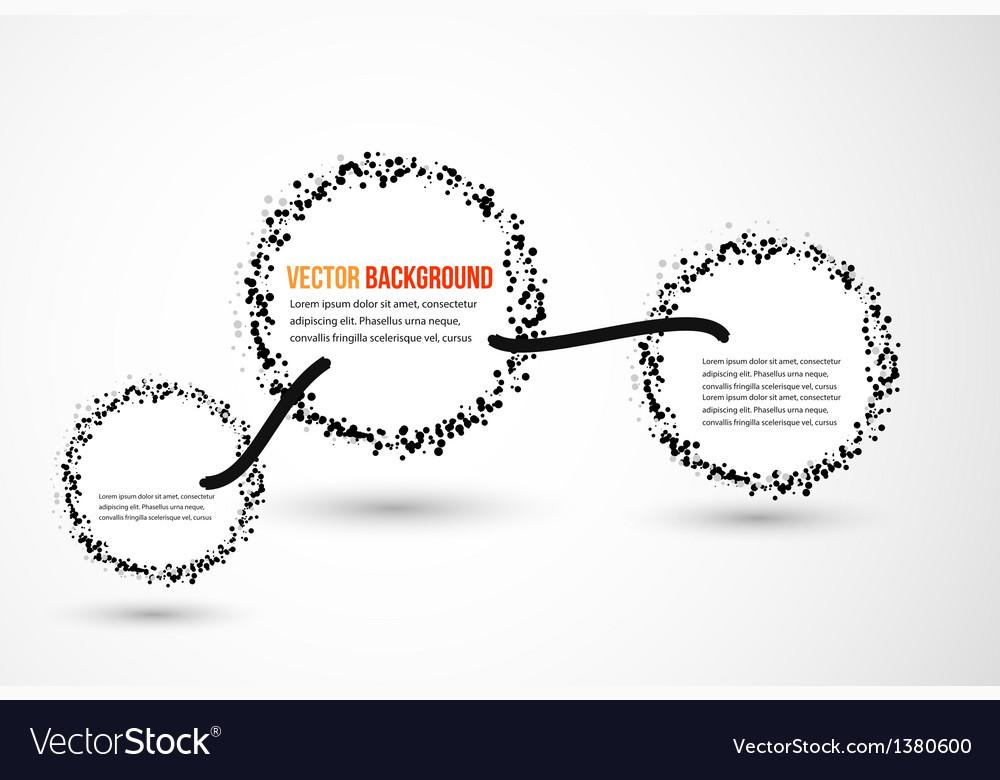 Abstract water and circle vector image