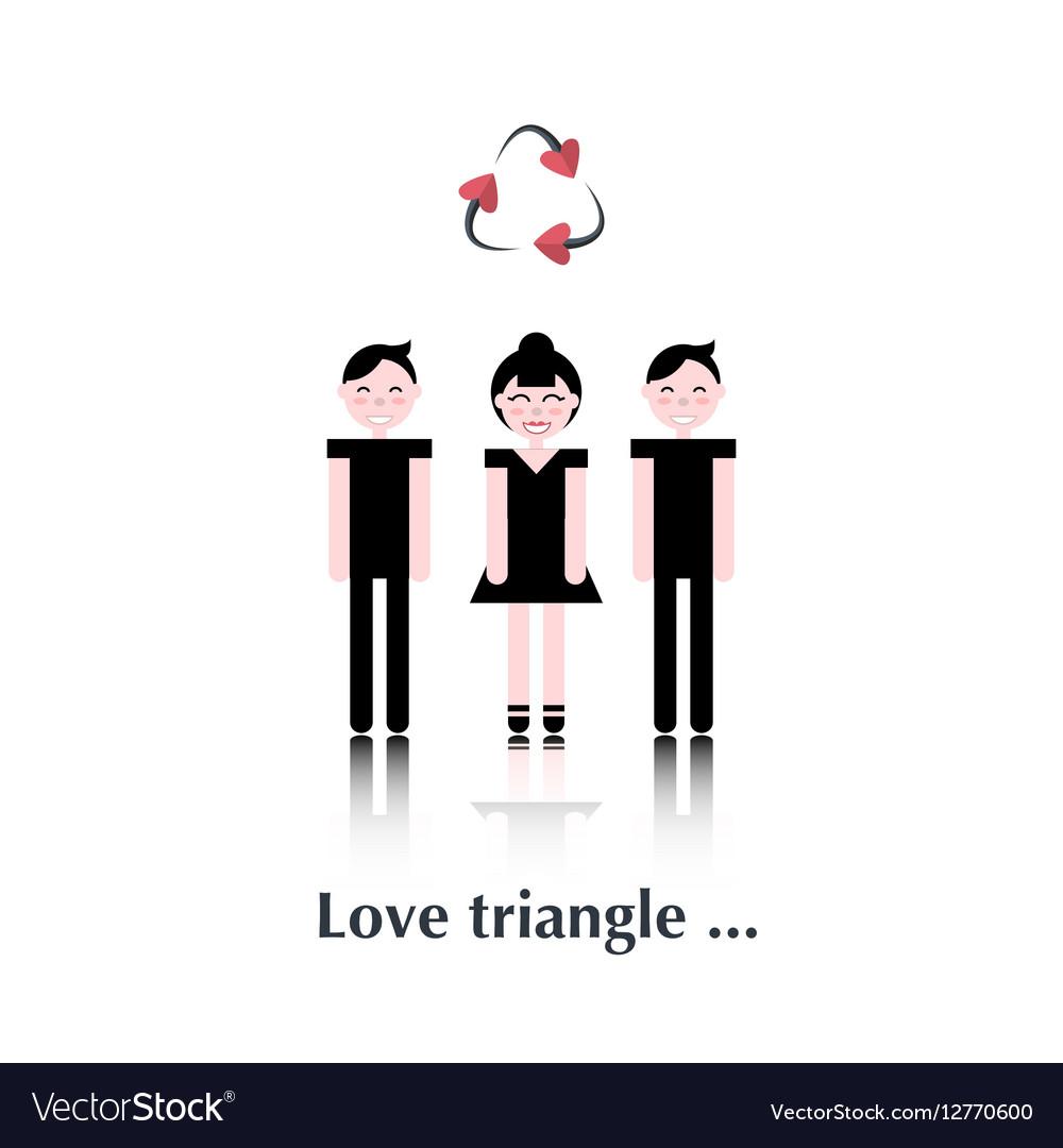 Bisexual relationship vector image