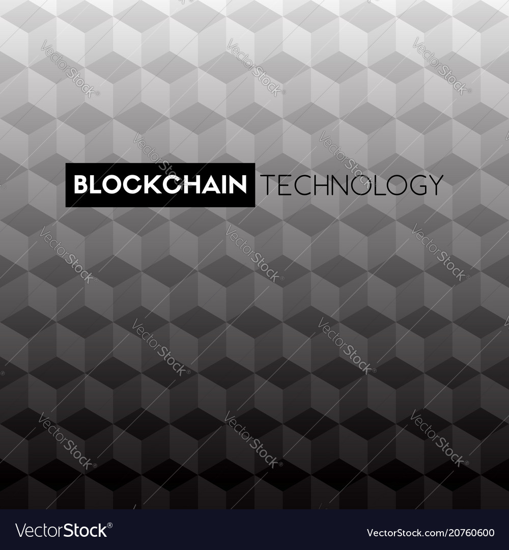 Blockchain technology black and white background